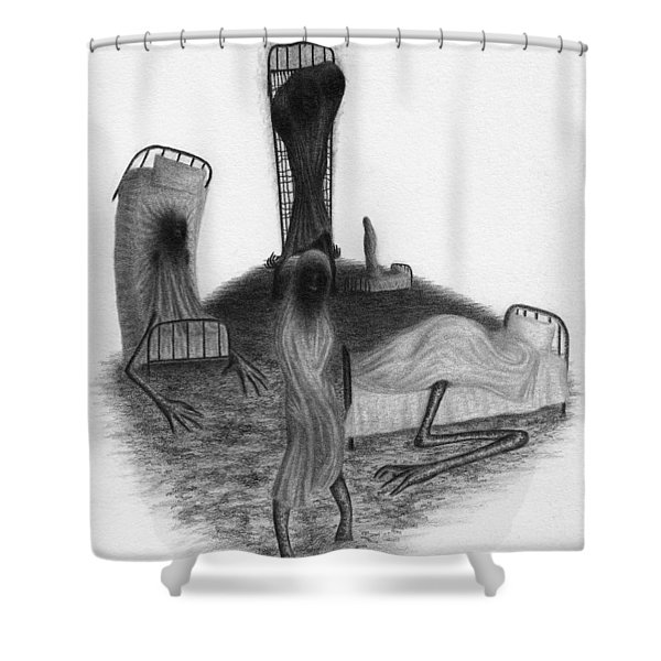 Bed Sheets - Artwork Shower Curtain