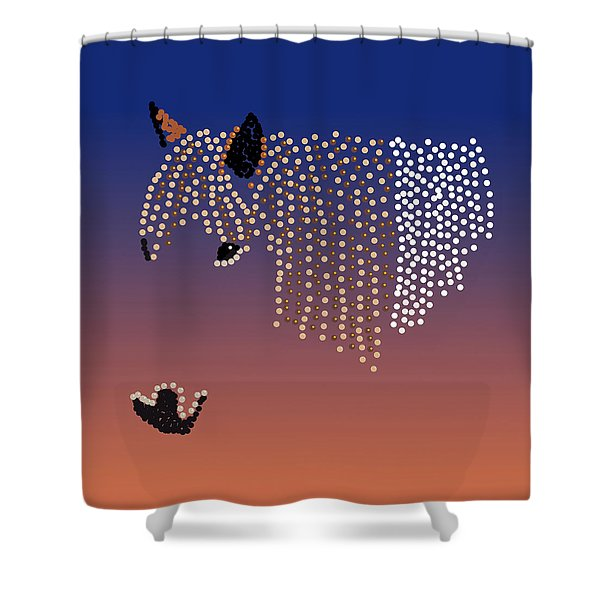 Bedazzled Horse's Mane Shower Curtain