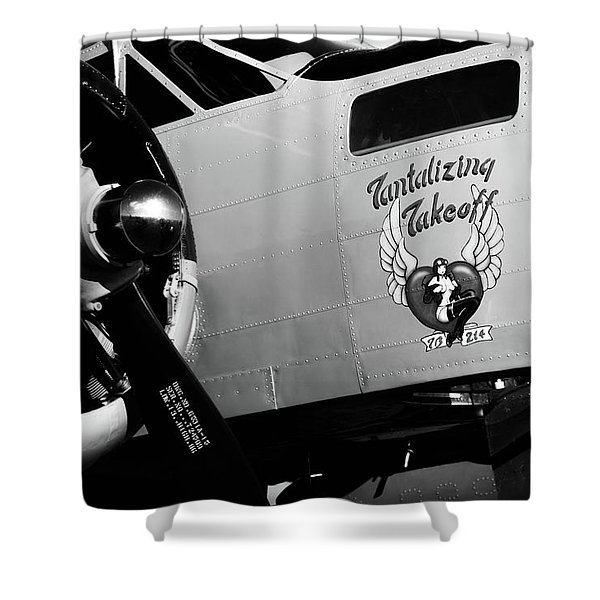 Beech At-11 Bw Shower Curtain