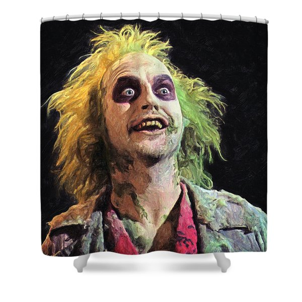 Beetlejuice Shower Curtain
