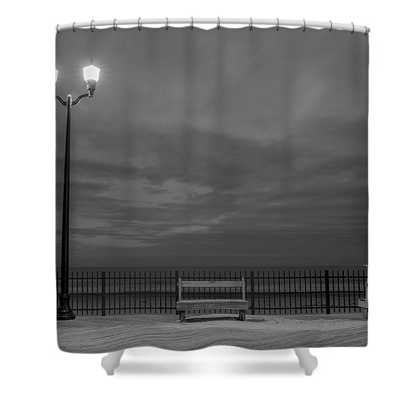Before Dawn On The Boards Shower Curtain