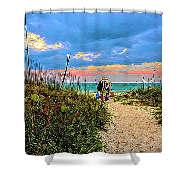 Beginning Of A Fishing Story Shower Curtain