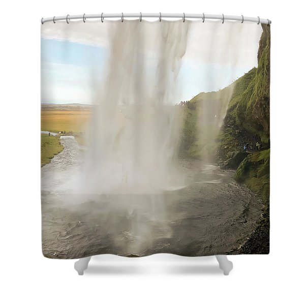 Behind The Curtain Shower Curtain