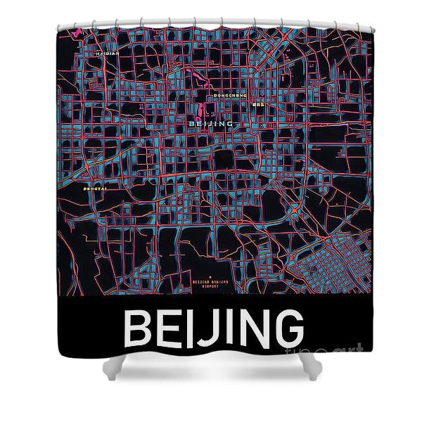 Beijing City Map Shower Curtain