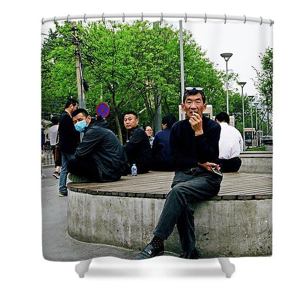 Beijing Street Shower Curtain