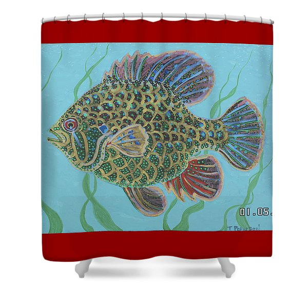 Bejeweled Bluegill Shower Curtain