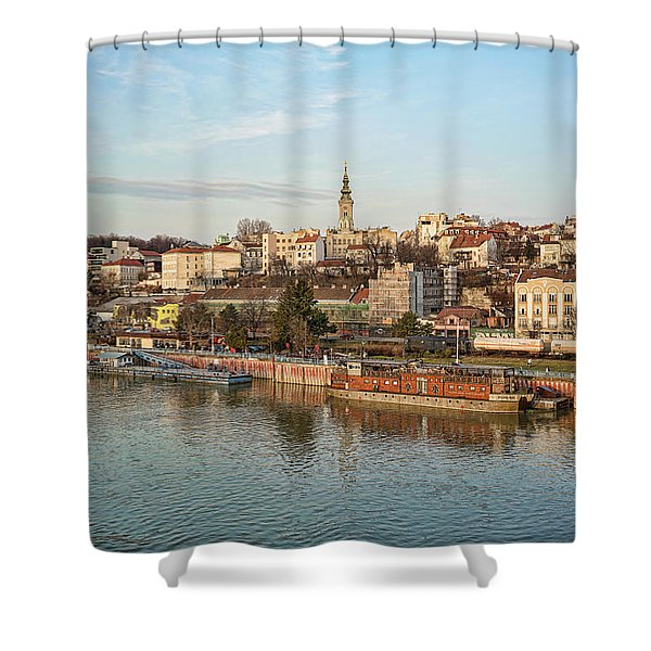 Shower Curtain featuring the photograph Belgrade Cityscape by Milan Ljubisavljevic