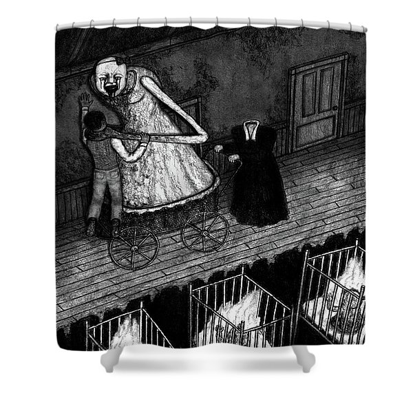 Bella The Nightmare Carriage - Artwork Shower Curtain