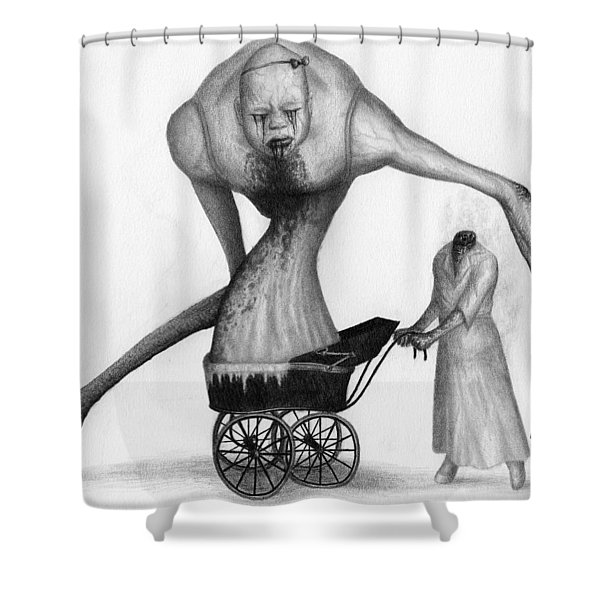 Bella The Nightmare Carriage Updated - Artwork Shower Curtain