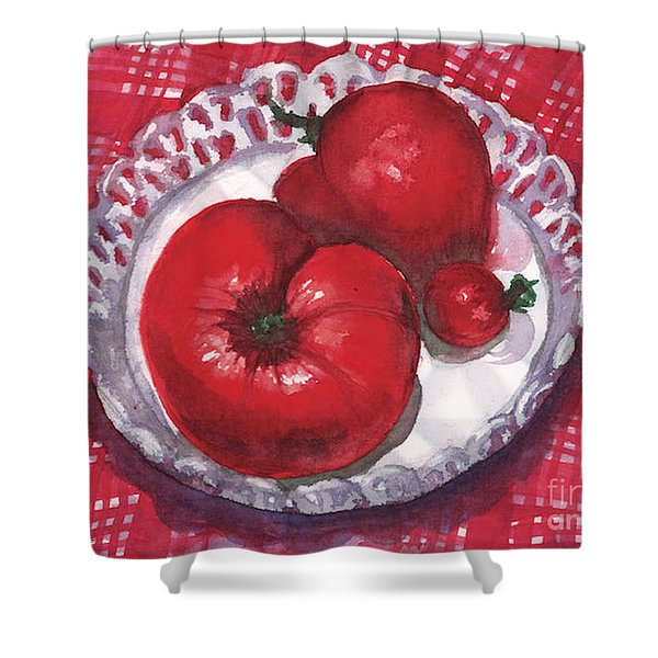 Bella Tomatoes Shower Curtain