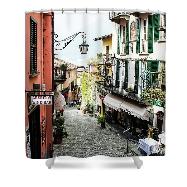 Shower Curtain featuring the photograph Bellagio Steet, Italy by Dawn Richards