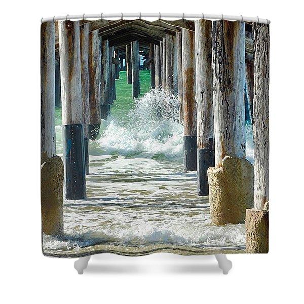 Below The Pier Shower Curtain