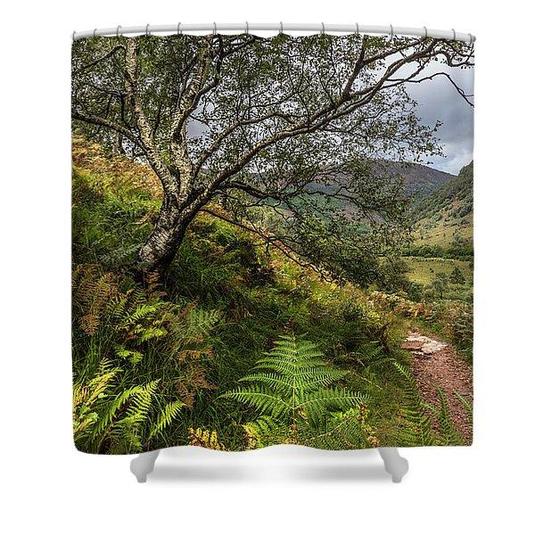 Beneath The Ben Nevis Mountain Shower Curtain