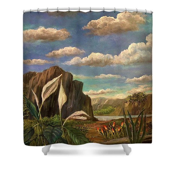 Beneath The Clouds Of Africa Shower Curtain