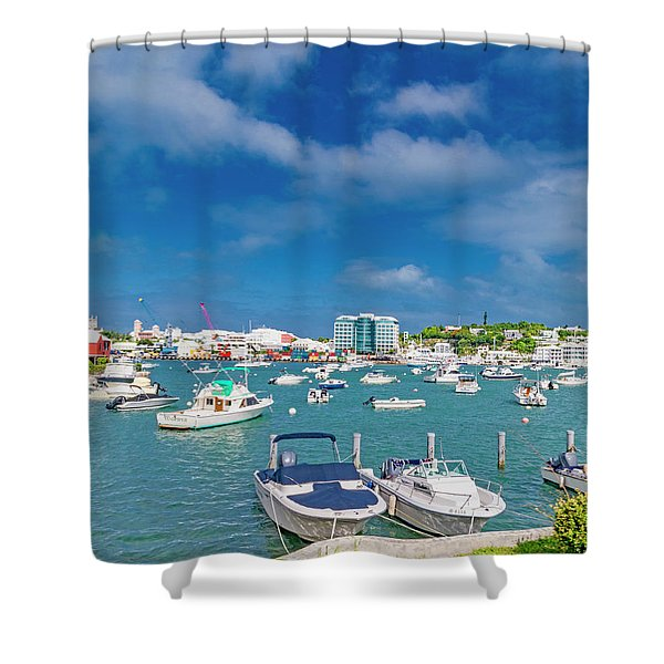 Bermuda Coastal Life Hamilton Shower Curtain