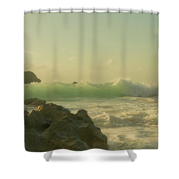 Bermuda Morning Glory Beach Shower Curtain