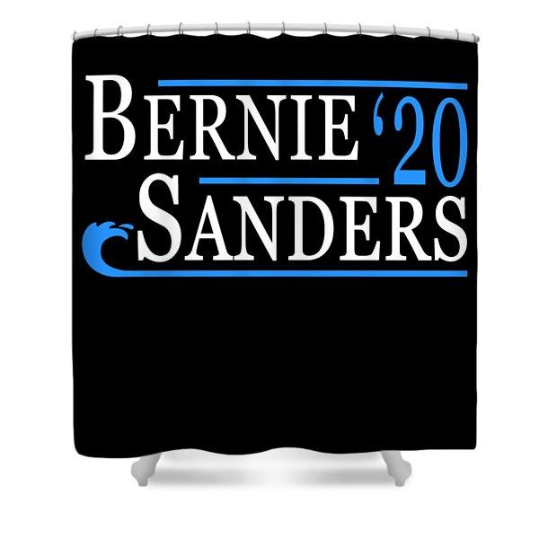 Bernie Sanders Blue Wave 2020 Shower Curtain