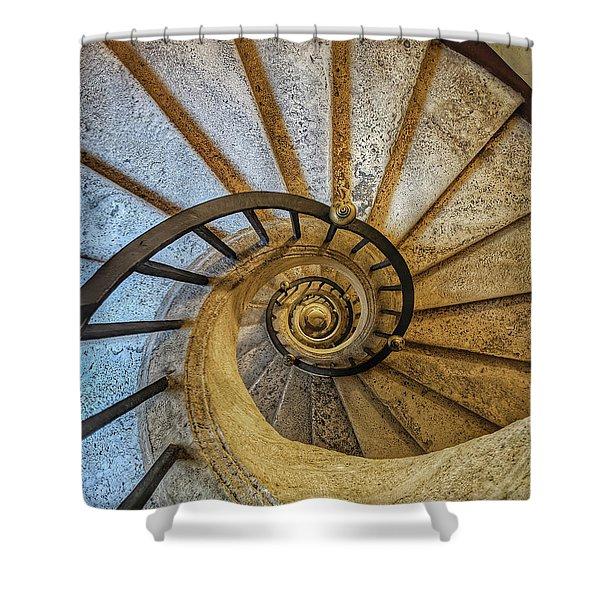 Bernini Staircase - Jo Ann Tomaselli Shower Curtain