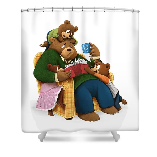 Best Dad Ever Shower Curtain