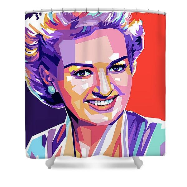 Betty Grable Pop Art Shower Curtain