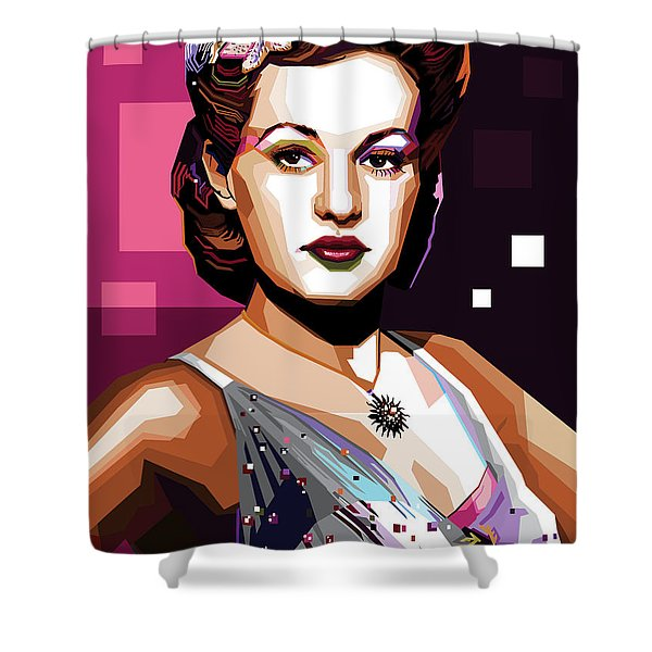Betty Grable Shower Curtain
