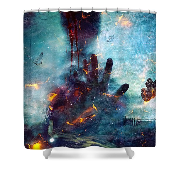 Between Life And Death Shower Curtain