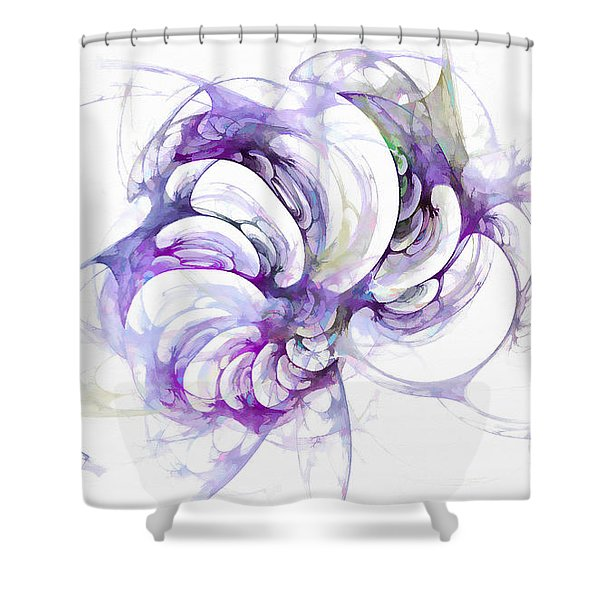 Beyond Abstraction Purple Shower Curtain
