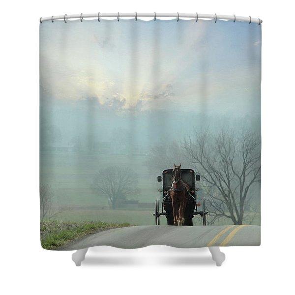 Beyond The Horizon Shower Curtain