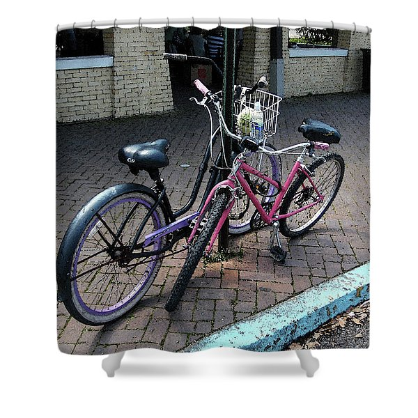 Bicycles City Park New Orleans Shower Curtain