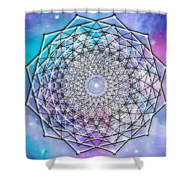 Shower Curtain featuring the digital art Big Bang by Bee-Bee Deigner