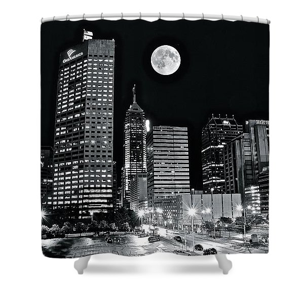 Big Moon Indianapolis 2019 Shower Curtain