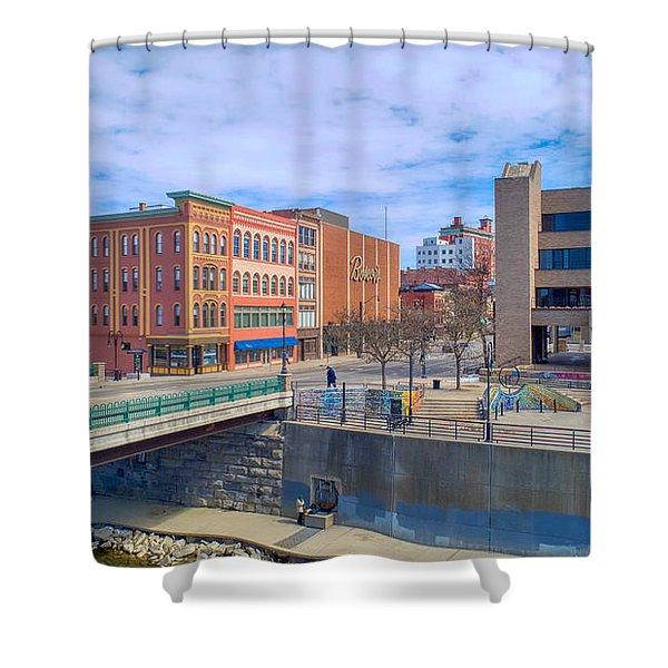 Binghamton Art Shower Curtain