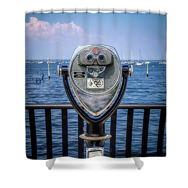 Binocular Viewer Shower Curtain