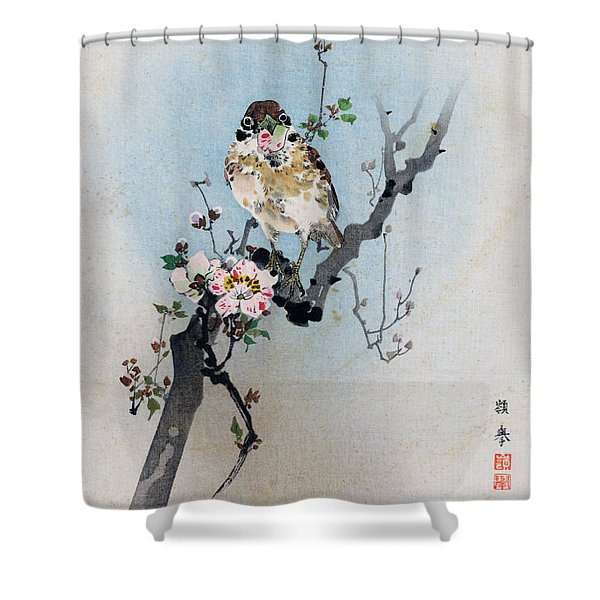 Bird And Petal Shower Curtain