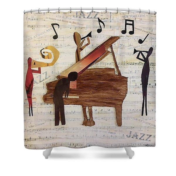 Birdland Jazz Shower Curtain
