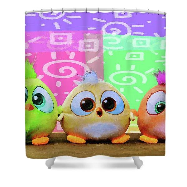 Birds In The Nursery Shower Curtain