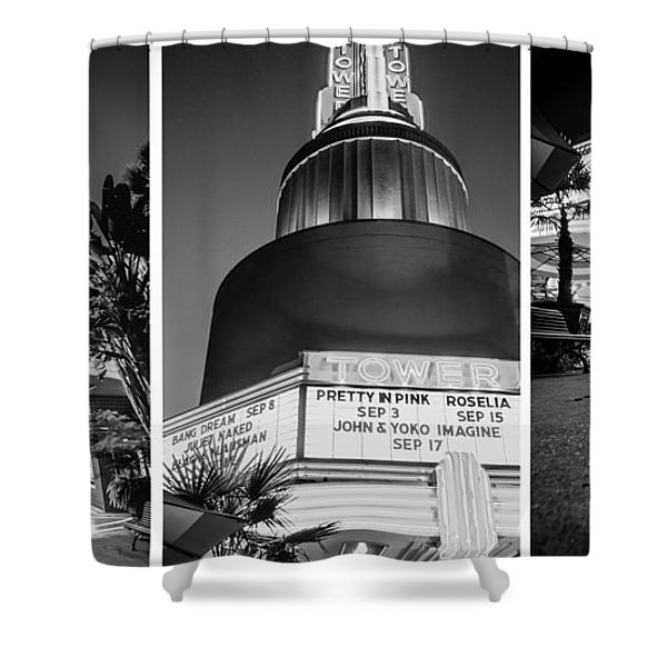 Black And White Triptych- Shower Curtain