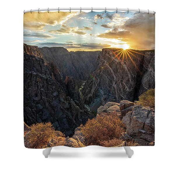 Black Canyon Sendoff Shower Curtain