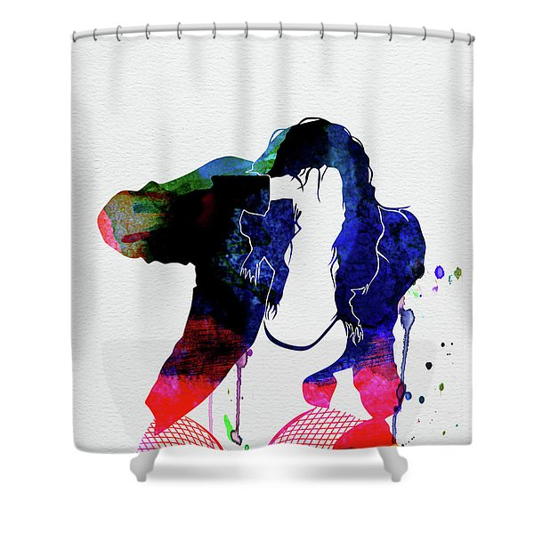 Black Eyed Peas Watercolor Shower Curtain