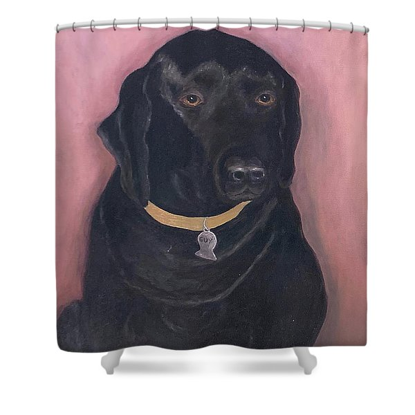Black Lab Shower Curtain