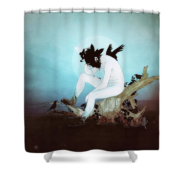 Black Lake Shower Curtain