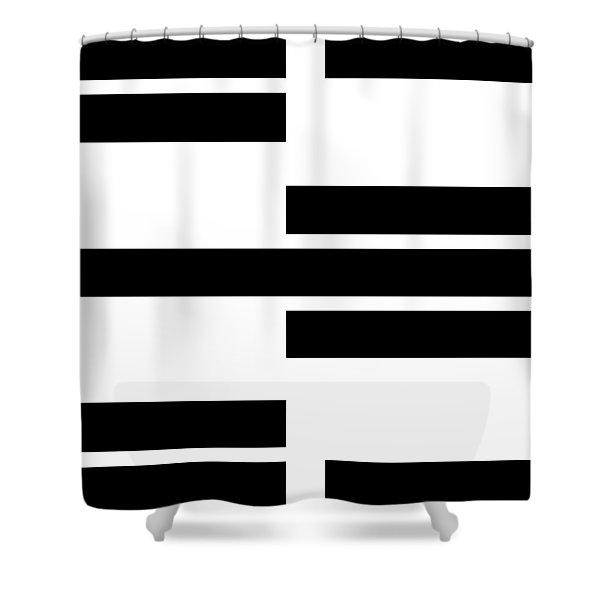 Black Rectangles I Shower Curtain