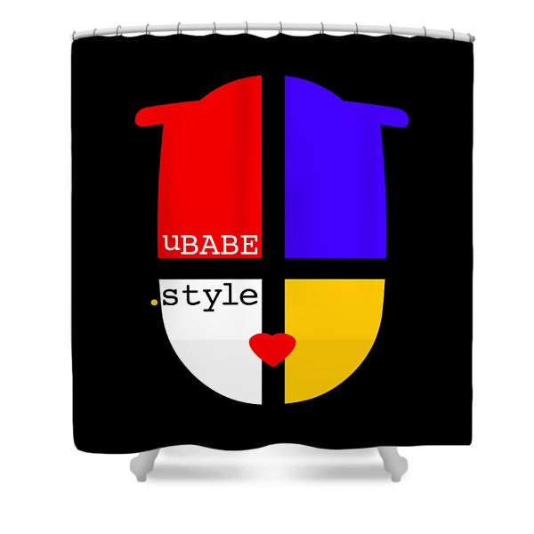 Black Style Shower Curtain