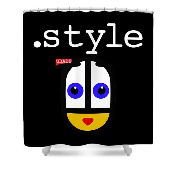 Black Style Ubabe Shower Curtain