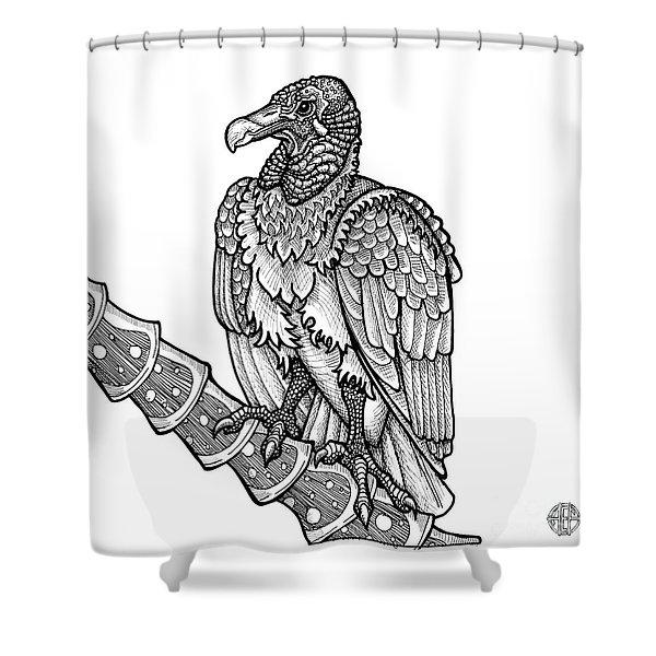 Black Vulture Shower Curtain