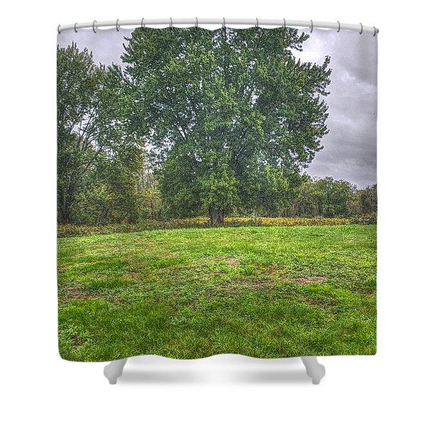 Blacklick Circle Earthwork Shower Curtain