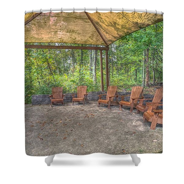 Blacklick Woods - Chairs Shower Curtain