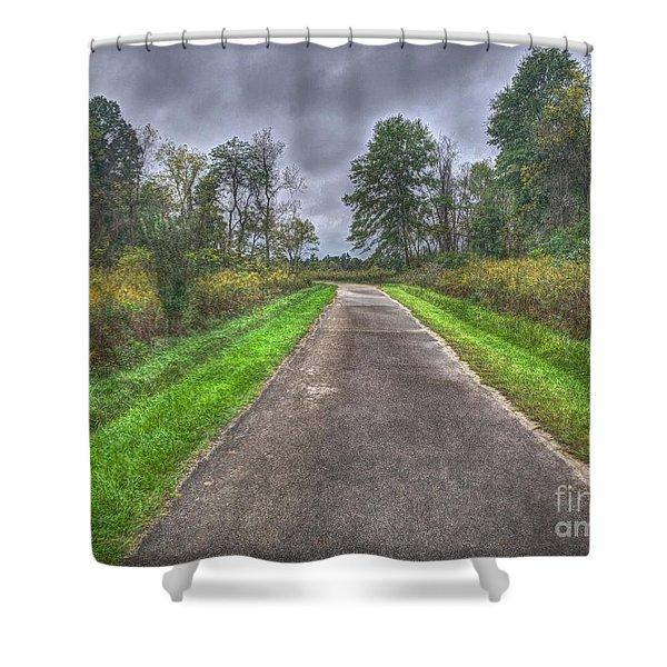 Blacklick Woods Pathway Shower Curtain