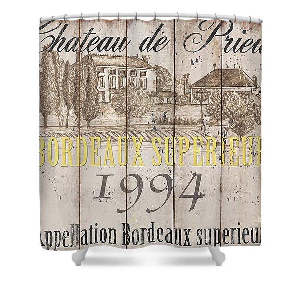 Blanc Wine Label 1 Shower Curtain