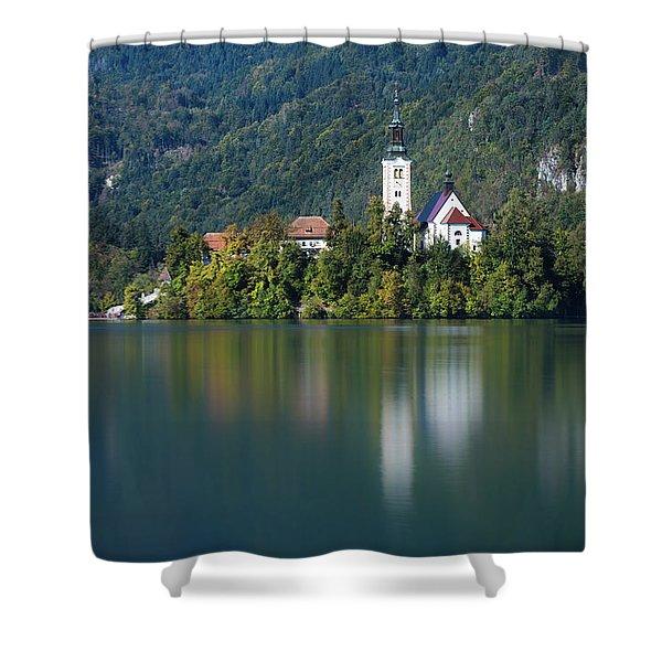 Bled Island Shower Curtain